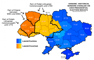 Historical borders and the 1994 Ukrainian election map