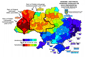 Historical borders and the 2010 Ukrainian election map