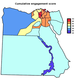 "Egypt: ""Engagement score"" [Map]"