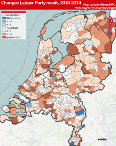Local elections 2014, the Netherlands - Labour Party losses